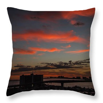 Throw Pillow featuring the photograph Colorful Sunset by Jane Luxton