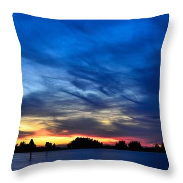 Colorful Sunset Throw Pillow