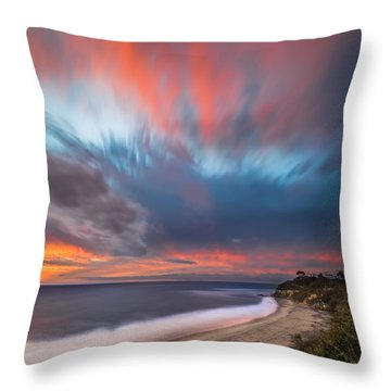 Colorful Swamis Sunset - Square Throw Pillow