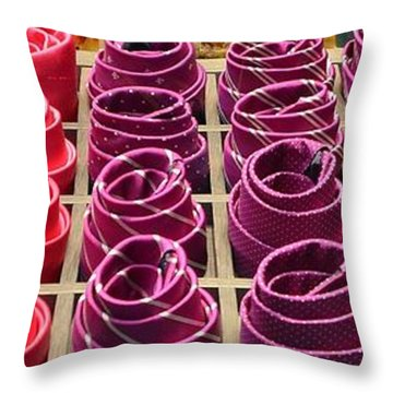 Colorful Ties Throw Pillow by Dany Lison