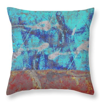 Colorful Walls Square Number 1 Throw Pillow