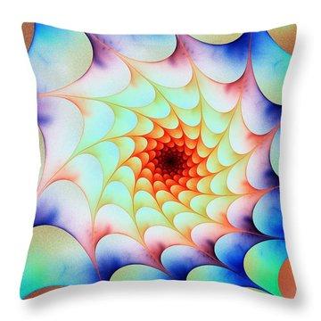 Throw Pillow featuring the digital art Colorful Web by Anastasiya Malakhova