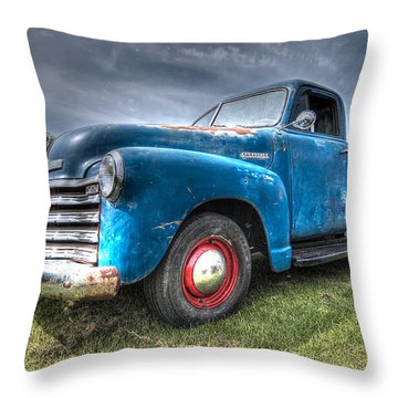 Colorful Workhorse - 1953 Chevy Truck Throw Pillow