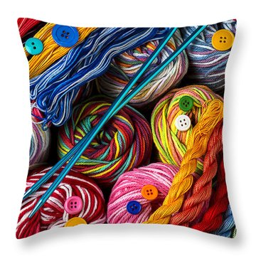 Colorful World Of Art And Craft Throw Pillow