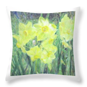 Colorful  Yellow Flowers Throw Pillow