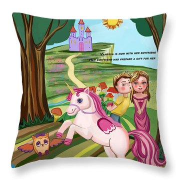 Throw Pillow featuring the digital art Colorfull by Bogdan Floridana Oana