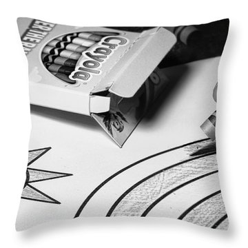 Coloring Without Color Throw Pillow by Tom Gort
