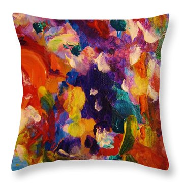 Colors 11 Throw Pillow by Helen Kagan