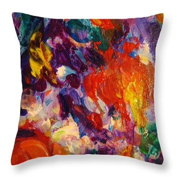 Colors 12 Throw Pillow by Helen Kagan