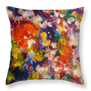 Colors 13 Throw Pillow by Helen Kagan