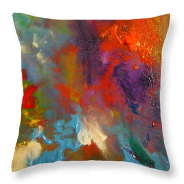 Colors 21 Throw Pillow by Helen Kagan
