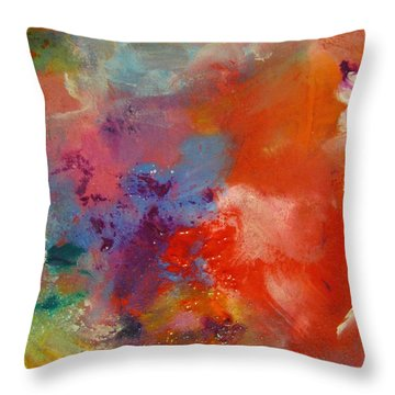 Colors 23 Throw Pillow by Helen Kagan