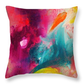 Colors 24 Throw Pillow by Helen Kagan
