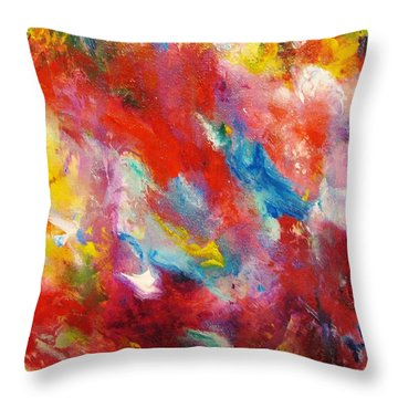 Colors 33 Throw Pillow by Helen Kagan