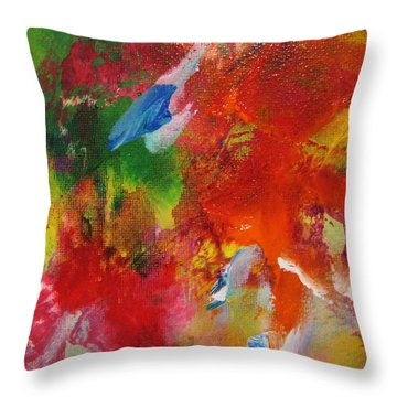 Colors 34 Throw Pillow by Helen Kagan