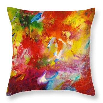 Colors 35 Throw Pillow by Helen Kagan