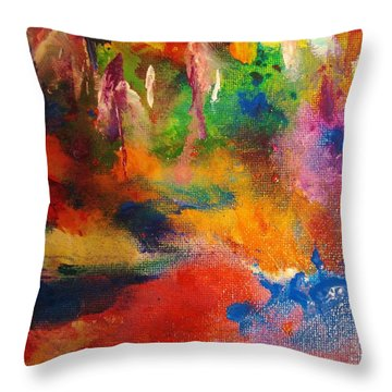Colors 36 Throw Pillow by Helen Kagan