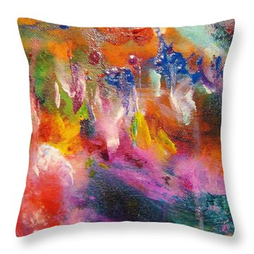 Colors 37 Throw Pillow by Helen Kagan