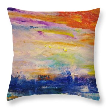 Colors 41 Throw Pillow by Helen Kagan