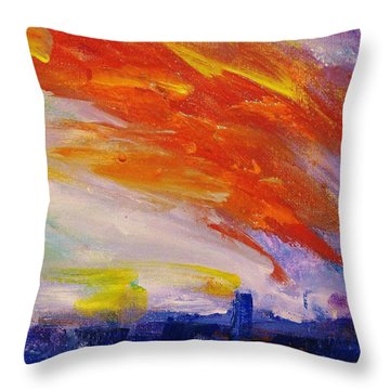 Colors 42 Throw Pillow by Helen Kagan