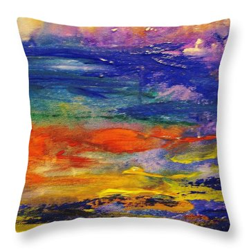 Colors 43 Throw Pillow by Helen Kagan
