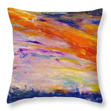 Colors 44 Throw Pillow by Helen Kagan