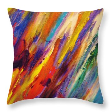 Colors 52 Throw Pillow by Helen Kagan