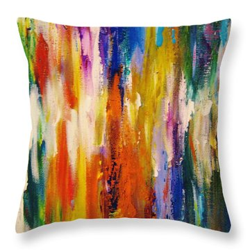 Colors 53 Throw Pillow by Helen Kagan