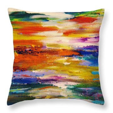 Colors 54 Throw Pillow by Helen Kagan