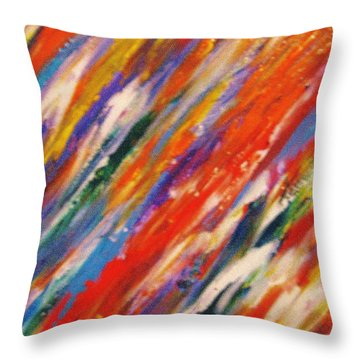 Colors 55 Throw Pillow by Helen Kagan