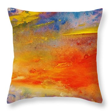 Colors 64 Throw Pillow by Helen Kagan
