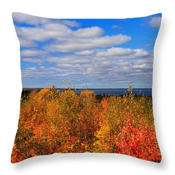 Colors Above Lake Superior Throw Pillow