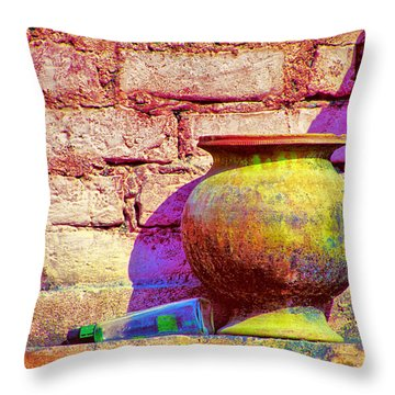 Colors And The Sun Throw Pillow