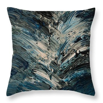 Throw Pillow featuring the painting Colors Crashing Painting by Renee Anderson