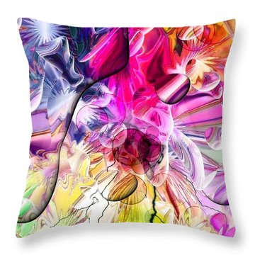 Throw Pillow featuring the digital art Colors Dreams By Nico Bielow by Nico Bielow