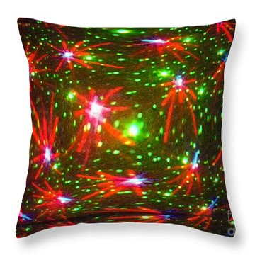 Colors Flashed Throw Pillow