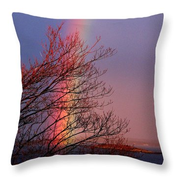 Colors From The Sky Throw Pillow