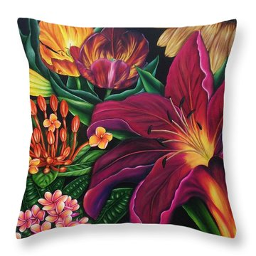 Colors Garden Throw Pillow
