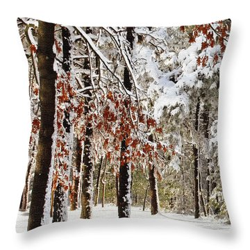 Colors In My Yard Throw Pillow