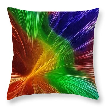 Colors Lines And Textures Throw Pillow by Kaye Menner