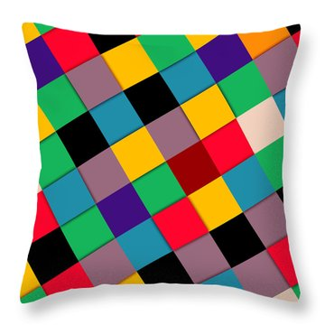 Colors  Throw Pillow by Mark Ashkenazi