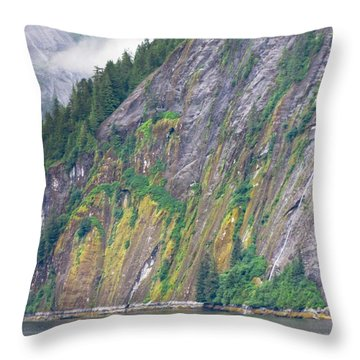 Colors Of Alaska - Misty Fjords Throw Pillow