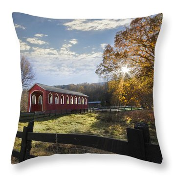Colors Of Autumn Throw Pillow by Debra and Dave Vanderlaan
