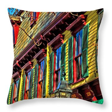 Colors Of Autumn Throw Pillow by Joann Vitali