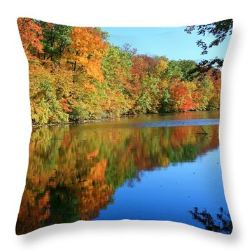 Colors Of Fall Throw Pillow by Susan  McMenamin