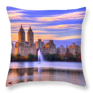 Colors Of New York Throw Pillow by Midori Chan