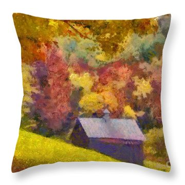 Colors Of October Throw Pillow