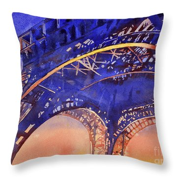 Colors Of Paris- Eiffel Tower Throw Pillow
