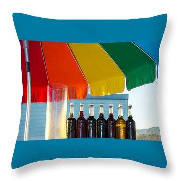 Colors Of Santa Monica Beach Throw Pillow by Ben and Raisa Gertsberg