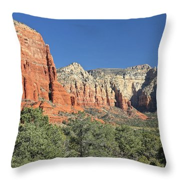 Throw Pillow featuring the photograph Colors Of Sedona by Penny Meyers